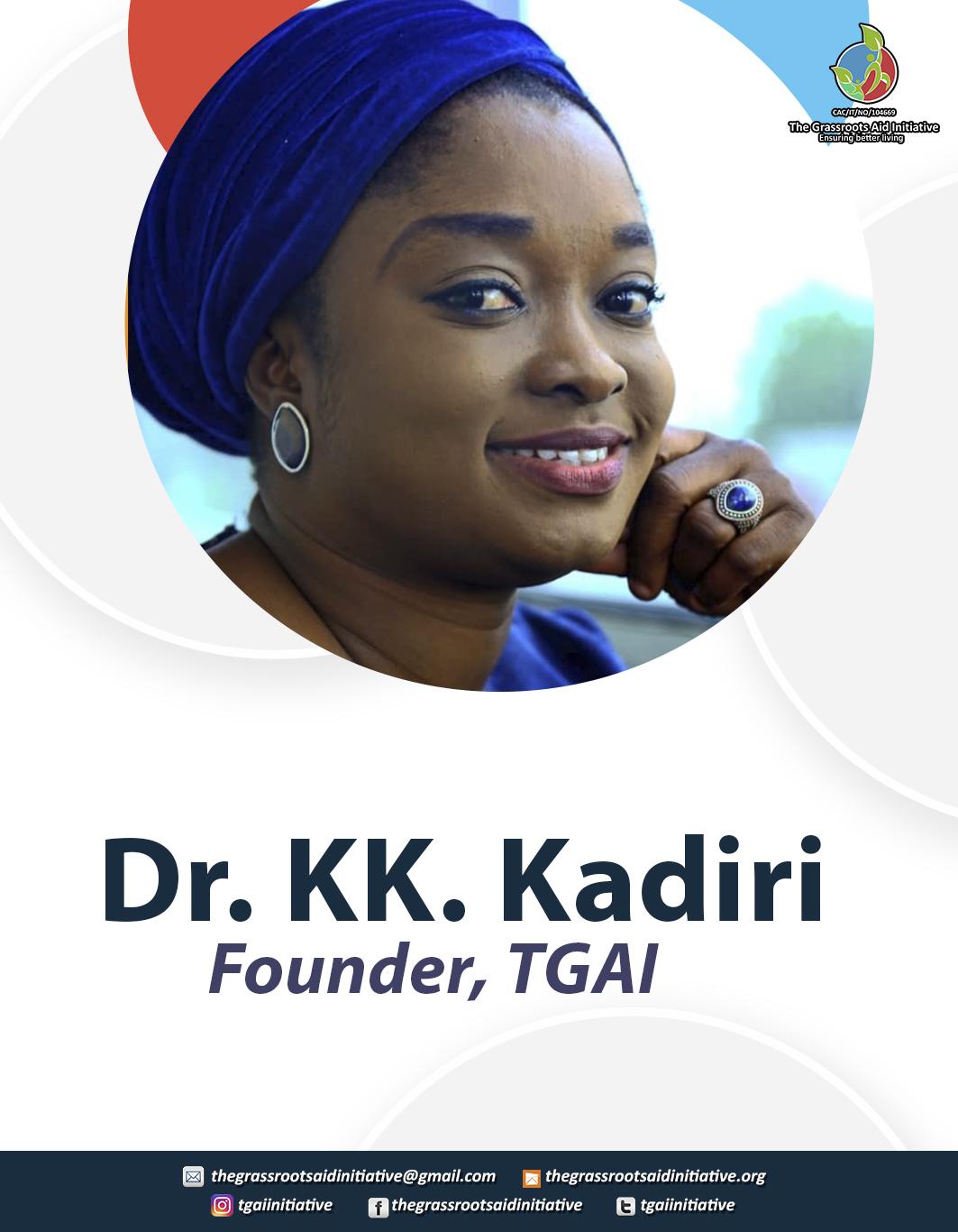 Dr Kadiri Kehinde, TGAI Volunteers